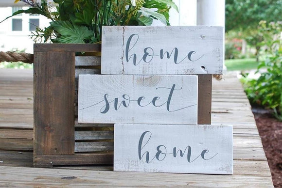 FREE SHIPPING!!!  Home sweet home pallet sign  I  Rustic home decor  I  housewarming gift