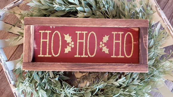 FREE SHIPPING!!!   Wood sign  I  HOHOHO sign  I  Christmas sign   I   Christmas  decor  I  Christmas   I  HOHO  I  Mini wood sign  I  sign  I  Wall hangings