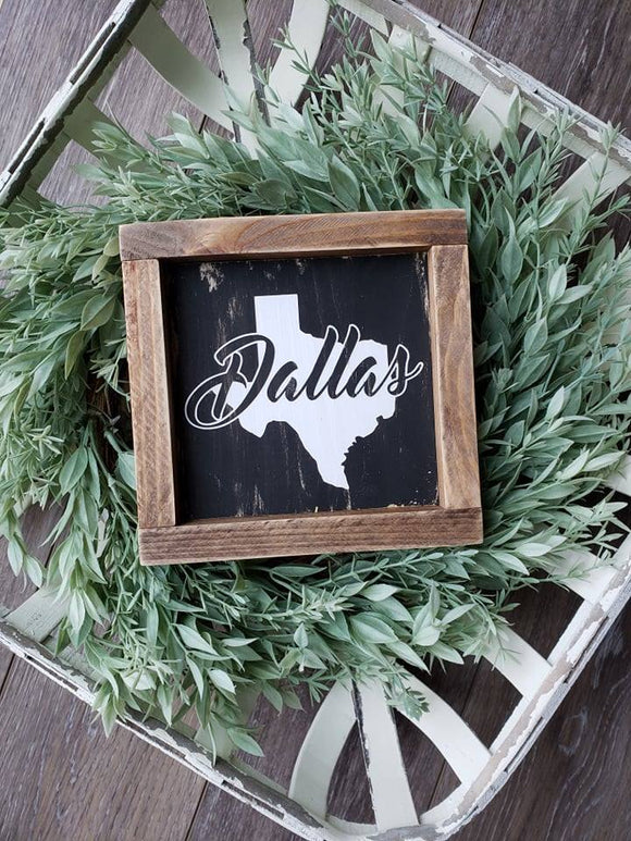 FREE U.S. SHIPPING!!!  Dallas Texas sign  |  Texas Wall Decor  |  Texas Sign