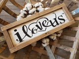 FREE SHIPPING!!!   Wood Sign  I  I love us wood sign  I  I love us  I  Wedding sign  I  Mini wood sign  I  Home decor  I  wall hangings  I  signs  I  Weddings