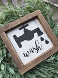 FREE SHIPPING!!!  Wash wood sign  I  Wash  I  Wood signs  I  Bathroom sign  I  Bathroom decor  I  Wash sign  I  Bathrooms  I  Bathroom wood sign  I  Laundry