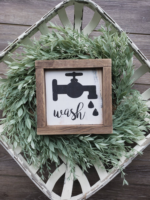FREE U.S. SHIPPING!!!  Wash wood sign  I  Wash  I  Wood signs