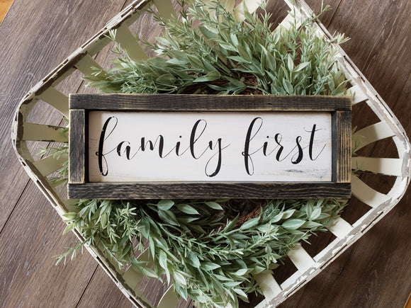 FREE SHIPPING!!!  Family First wood sign  I  Family first  I  rustic home decor  I  family sign  I  home decor  I  wood signs  I  wall hangings  I  wall art