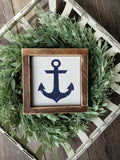 FREE SHIPPING!!!  Anchor wood sign  I  Anchor  I  Wood signs  I  Bathroom sign  I  Bathroom decor  I  Nautical  I  Nautical wood sign  I  Bathroom wood sign