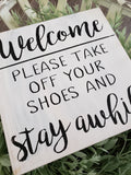 FREE SHIPPING!!!   Wood sign  I  Remove your shoes  I  No shoes sign  I  Shoe free house sign  I  No shoes allowed  I  wood decor  I  signs  I  door decor