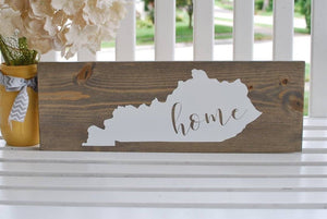 FREE U.S  SHIPPING!!!  Kentucky wood sign  I  home sweet home