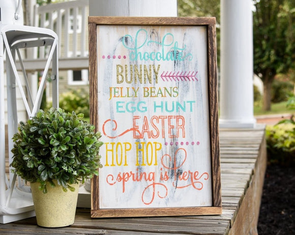 FREE U.S. SHIPPING!!!  Easter wood sign  I  Easter sign  I  Easter decor  I  Easter