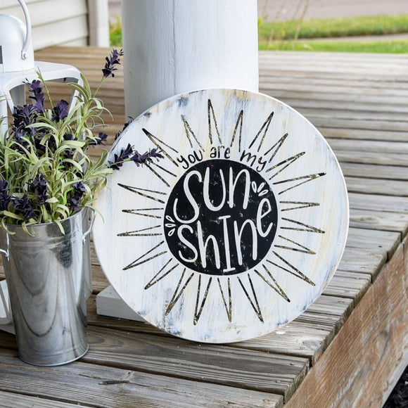 FREE SHIPPING!!!   You are my sunshine back wood circle sign.