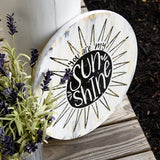 FREE U.S. SHIPPING!!!   You are my sunshine back wood circle sign.