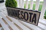 FREE U.S. SHIPPING!!   Minnesota wood sign  I  Home Sweet Home  I  housewarming gift