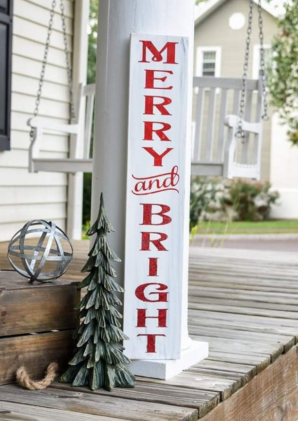 FREE SHIPPING!!!   Merry and Bright sign  I  Christmas sign  I  Christmas  I  Rustic Christmas