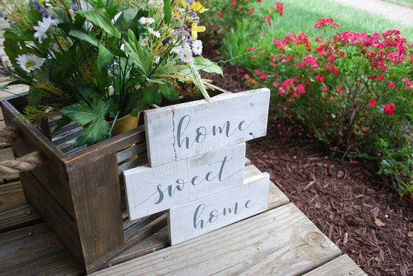 Home sweet home pallet sign  I  Rustic home decor  I  housewarming gift