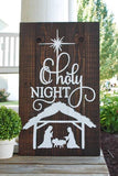 FREE U.S. SHIPPING!!!  O Holy night pallet sign  I  Christmas decor  I  Christmas