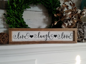 FREE U.S. SHIPPING!!!   Live laugh love sign  I  Live laugh sign