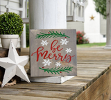 FREE U.S. SHIPPING!!!  Be Merry wood sign  I  Be Merry  I  Christmas