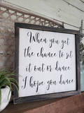 FREE U.S. SHIPPING!!!  Dance wood sign  I  Wooden wedding signs  I  home decor