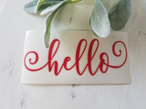 FREE U.S. SHIPPING!!!   Hello vinyl decal
