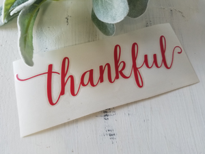FREE U.S. SHIPPING!!! Thankful vinyl decal