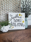 FREE U.S. SHIPPING!!!   Twinkle Twinkle Little Star wood sign  I  Nursery decor