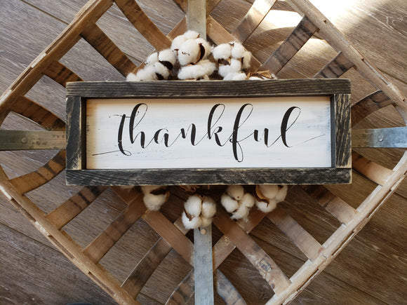 FREE SHIPPING!!!   Wood sign  I  Thankful  I  Thankful sign  I  Fall sign  I  Fall decor  I  Dining room sign  I  Black and white  I  wood signs  I  home decor