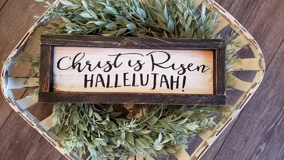 FREE SHIPPING!!!   Wood sign  I  Christ is Risen  I  Easter  I  Easter sign  I  Easter decor  I  Spring  I  Spring sign  I  Spring decor  I  He is risen.