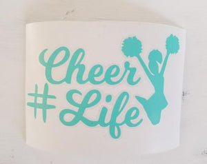 FREE SHIPPING!!! Cheerlife vinyl decal  I  #Cheerlife  I  vinyl decals  I  car decals  I  decal  I  cheer mom decal  I  cheer mom  I  chee