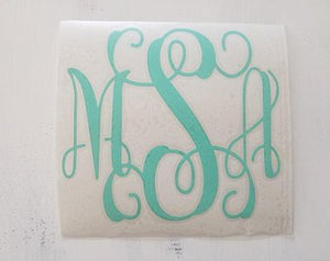 FREE U.S. SHIPPING!!!   Monogram decal  I  Vinyl decal