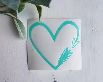 FREE SHIPPING!!!   Arrow heart decal  I  Arrow decal  I   arrows  I  Heart decal  I  Hearts  I  arrows  I  Car decals  I  Decals  I  Vinyl decals  I  Laptop