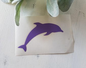 FREE SHIPPING!!! Dolphin vinyl decal  I  Dolphin decal  I  Car window decal  I  car decal  I  Dolphin sticker  I  Ocean car decal  I  Beach decal  I  Beach