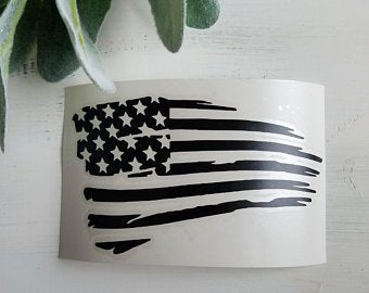 FREE SHIPPING!!!   American flag vinyl decal  I  decals  I  American flag  I  American decal  I  Car decal  I  Laptop decal  I  Flag decal  I  Vintage Flag