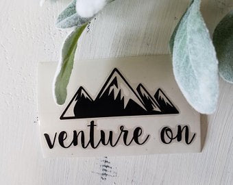 FREE SHIPPING!!!Venture on vinyl decal  I  Adventure decal  I  Mountain decal  I  car decal  I  Adventure sticker  I  Adventure car decal  I  wall decal