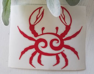 FREE SHIPPING!!! Crab vinyl decal  I  Crab decal  I  Car window decal  I  car decal  I  Crab sticker  I  Yeti decal  I  wall decal  I  Nautical decal