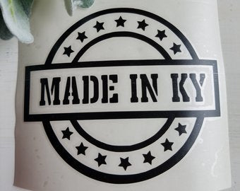 FREE SHIPPING!!!   Made in Kentucky Decal  I  Kentucky  I decals I  Kentucky decal  I  vinyl decals  I  cup decal  I  car decal  I  yeti decal  I  Made in