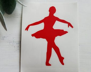 FREE SHIPPING!!!  Dancer decal  I  Dance decal  I  Dance  I  Dancer car decal  I  ballet decal  I  ballet dancer  I dance teacher gift I dance mom  I  Dancer