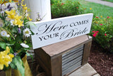 FREE SHIPPING!   I  Wedding signs  I  wedding decor  I  Here comes your bride
