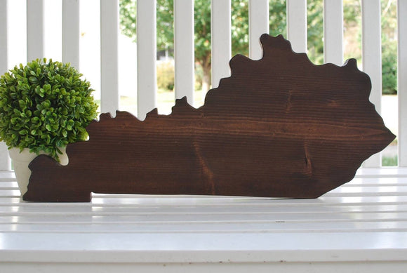 FREE SHIPPING!!!  Kentucky cut out  I  Kentucky decor  I  Kentucky  I Kentucky wedding  I  State cut out