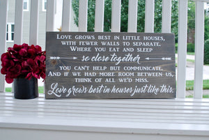FREE SHIPPING!!!    Love grows best I  Home decor  I   farmhouse decor  I  Little houses