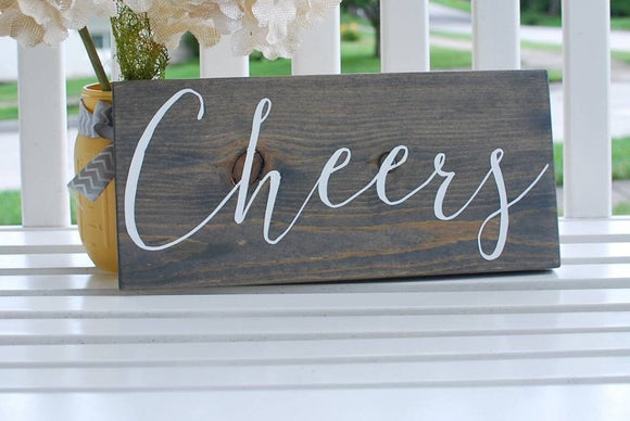 FREE SHIPPING!!!  Cheers wood sign  I  cheers  I  bar sign  I  bar I  cheers sign