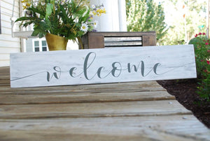 FREE SHIPPING!!!  Welcome wood sign  I   Welcome sign  I housewarming gift  I  welcome