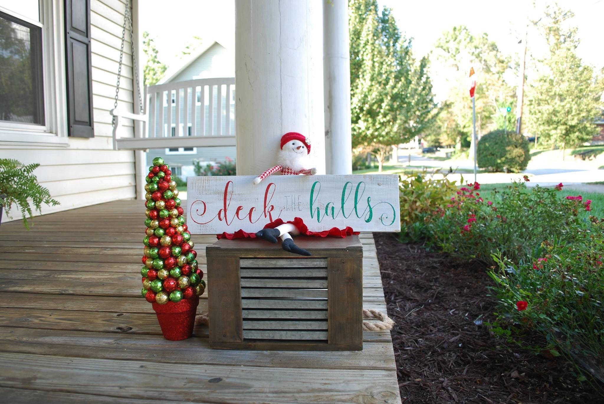 deck the halls sign i christmas signs i christmas i christmas decor i deck - Christmas Decor Signs