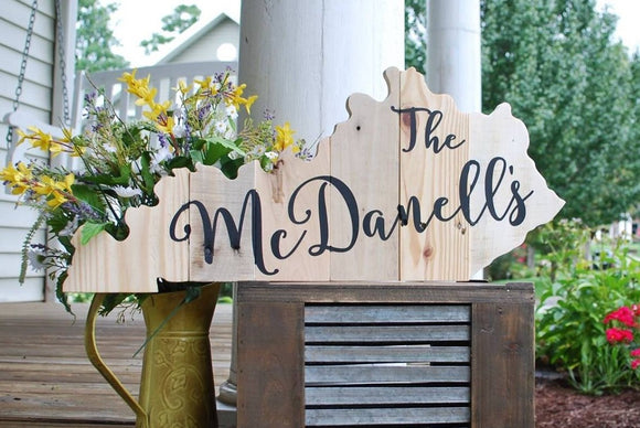 FREE SHIPPING!!!  Kentucky pallet I  Kentucky decor  I  Kentucky  I  Kentucky wedding  I  State cut outs