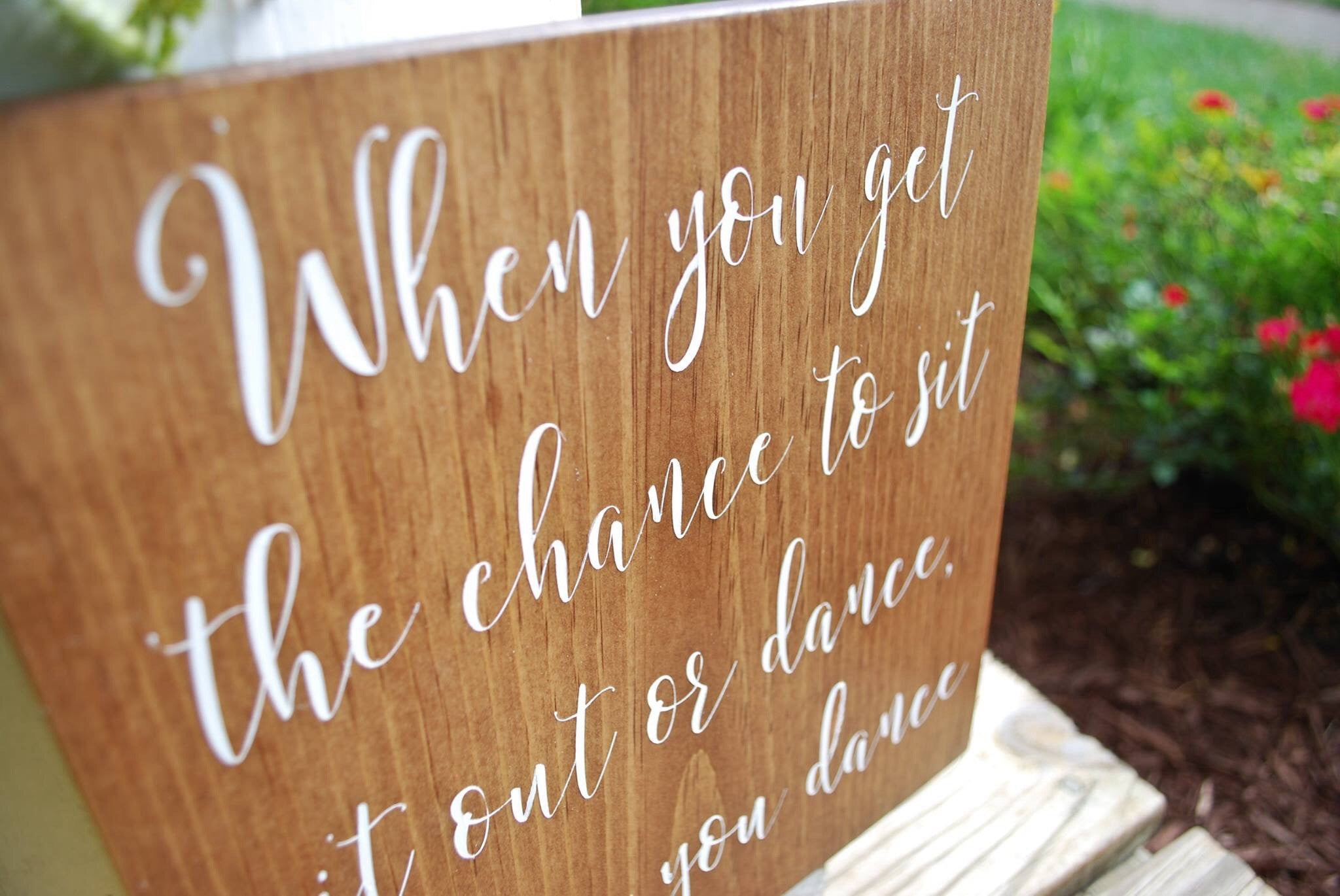 Wooden Wedding Signs.Free Shipping Dance Wood Sign I Wooden Wedding Signs I