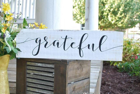 FREE SHIPPING!!!  Grateful wood sign  I  Thanksgiving decor  I  Grateful  I   fall decor  I  Black and white