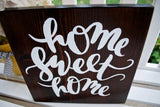 FREE SHIPPING!!!   home sweet home sign  I   Rustic home decor  I  housewarming gift  I  door sign  I  home decor