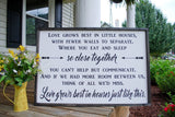 FREE U.S. SHIPPING!!!   Love grows best wood sign  I  Love grows best  I  wood sign
