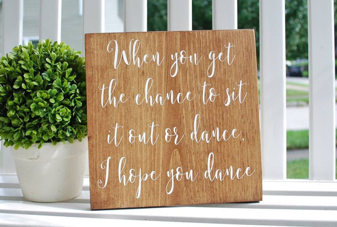 Free Shipping Dance Wood Sign I Wooden Wedding Signs I Home