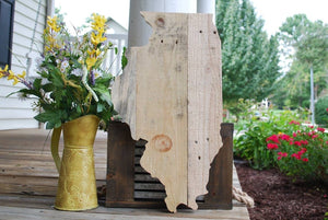FREE SHIPPING!!!  Illinois pallet I   Illinois decor  I  Illinois  I  Illinois wedding  I  Home decor