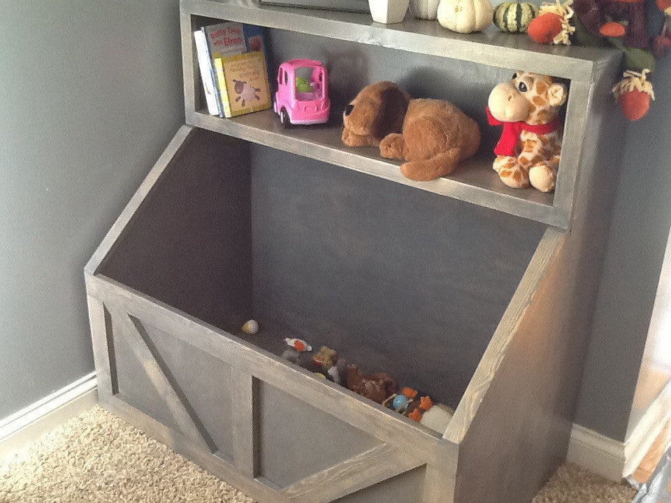 Free Shipping Wood Toy Chest I Wood Storage I Toy