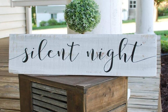 FREE SHIPPING!!!   Silent Night sign  I  Christmas signs  I Christmas  I  Christmas decor  Silent Night