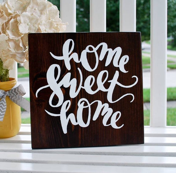 FREE U.S.  SHIPPING!!!   Home sweet home sign   I  housewarming gift